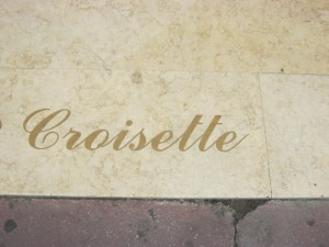 Croisette sign