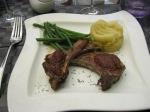 Lamp chops, potatoes, haricots verts