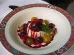 Panacotta with fruit
