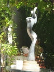 Terrace statue