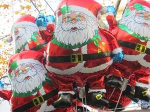 Santa balloons
