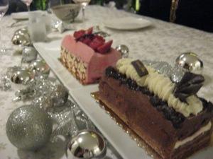 yule log cakes