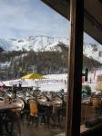 Restaurant window view