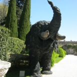 Elephant made from tires