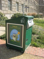 solar garbage can