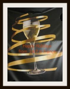 festive champagne glass