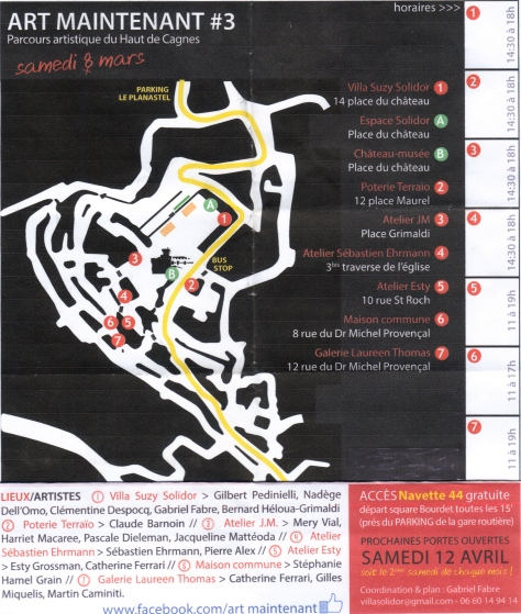 Art walk map