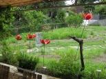 Rear garden art
