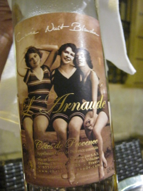 Rose wine label