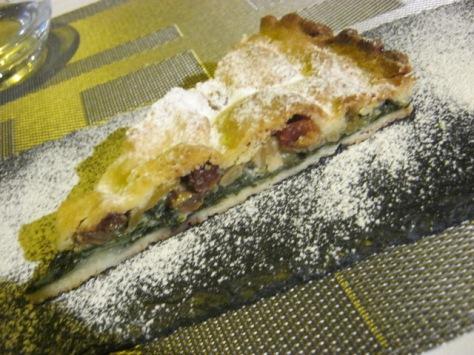 Swiss chard pie dessert