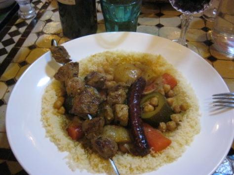 Brochette couscous