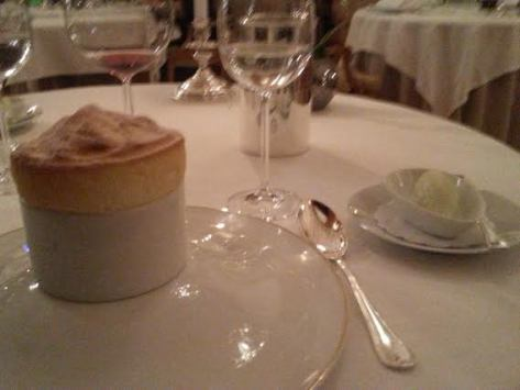 la piece de resistance was a lemon souffle and granny smith sorbet
